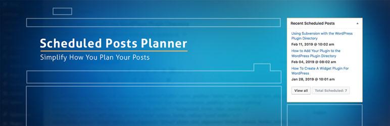 WordPress Scheduled Posts Planner Plugin Banner Image