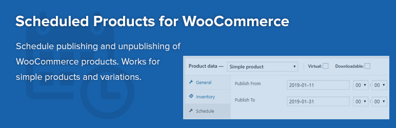 WordPress Scheduled Products for WooCommerce Plugin Banner Image