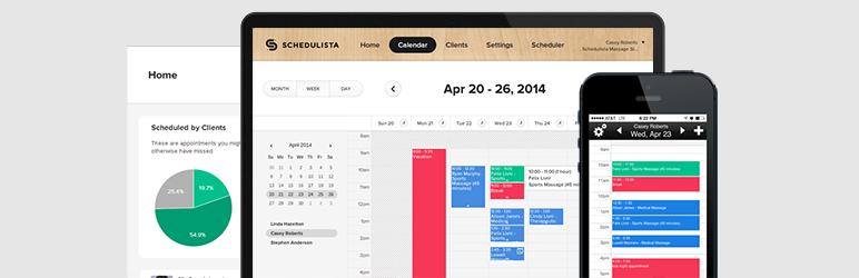 WordPress Schedulista – Online Scheduling Plugin Banner Image