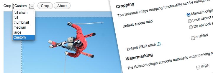 WordPress Scissors and Watermark Plugin Banner Image