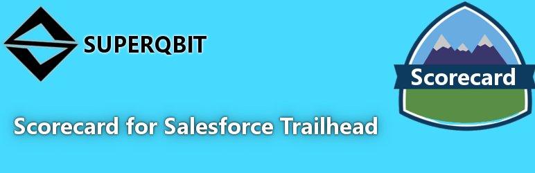 WordPress Scorecard Widget Salesforce Trailhead Plugin Banner Image