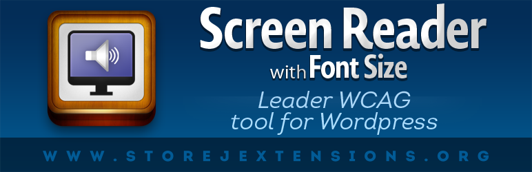 WordPress Screen Reader WCAG Accessibility Tools Plugin Banner Image