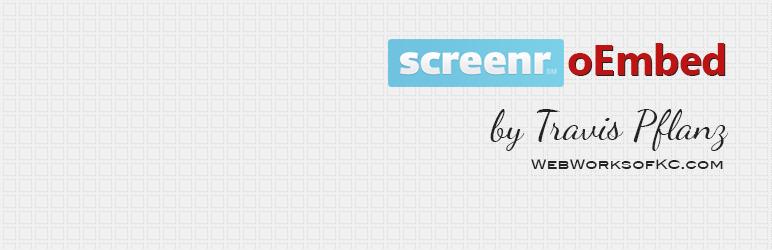 WordPress Screenr oEmbed Plugin Banner Image
