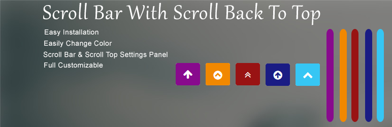 WordPress Scroll Bar With Back To Top Plugin Banner Image