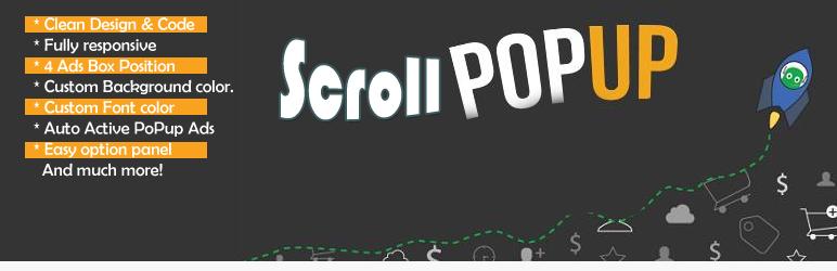 WordPress Scroll Popup Ads Plugin Banner Image