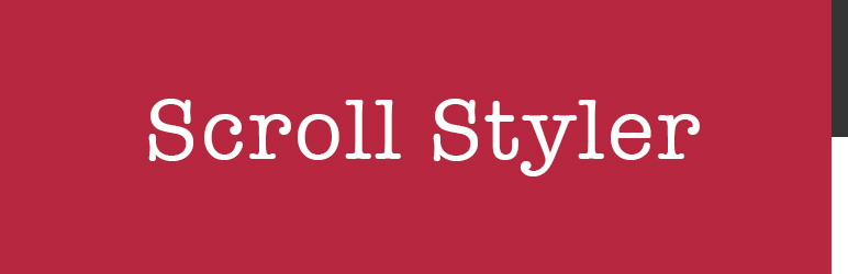 WordPress Scroll Styler Plugin Banner Image