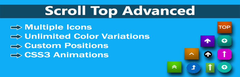 WordPress Scroll To Top Advanced Plugin Banner Image