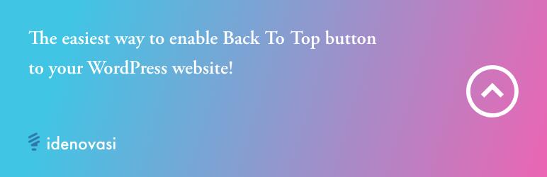 WordPress Scroll Top Plugin Banner Image