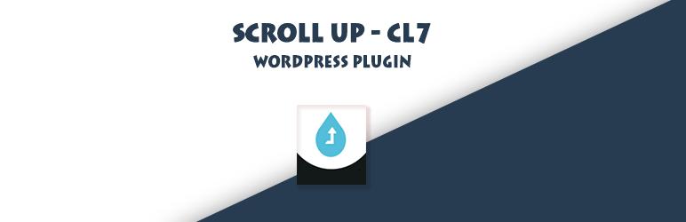 WordPress Scroll Up CL7 Plugin Banner Image