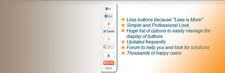 WordPress Scrolling Social Sharebar (Twitter Like Google +1 Linkedin and Stumbleupon) Plugin Banner Image