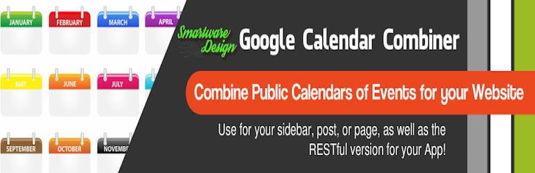 WordPress SD Google Calendar Combiner Plugin Banner Image