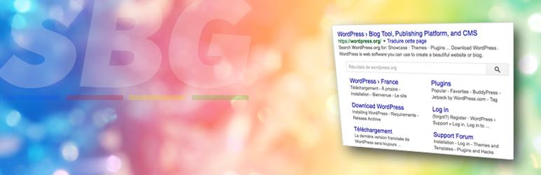 WordPress Search Box Google par JM Créa Plugin Banner Image