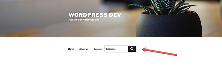 WordPress Search box on Navigation Menu Plugin Banner Image