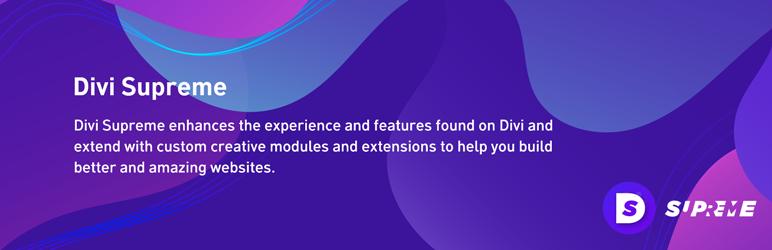 WordPress Supreme Modules for Divi Plugin Banner Image
