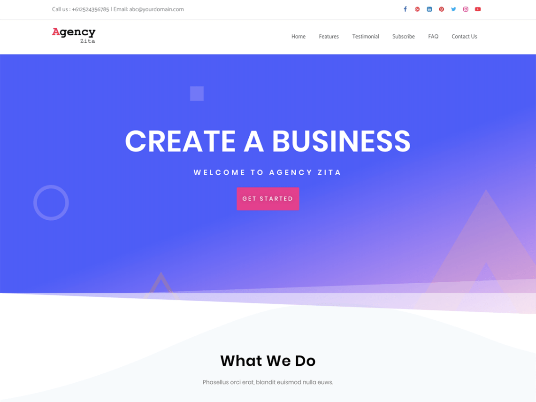 WordPress theme agency-zita