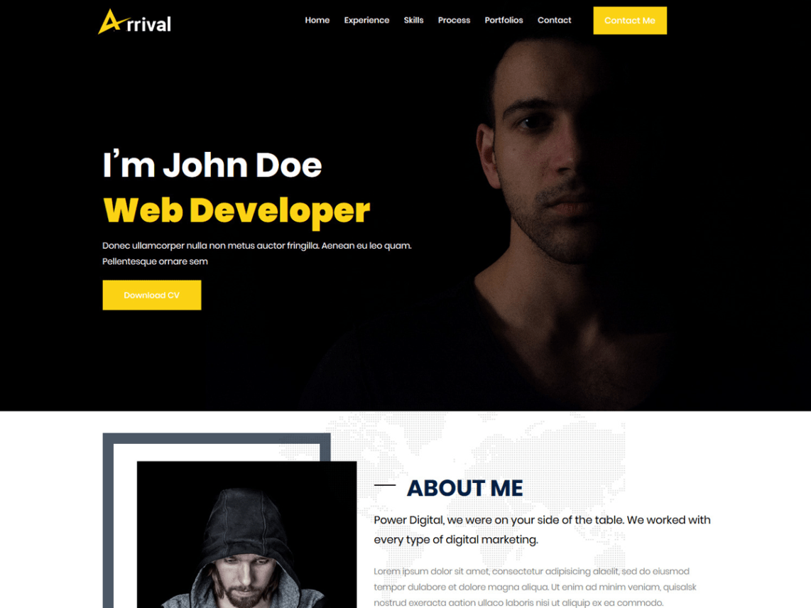 WordPress Theme Arrival Me