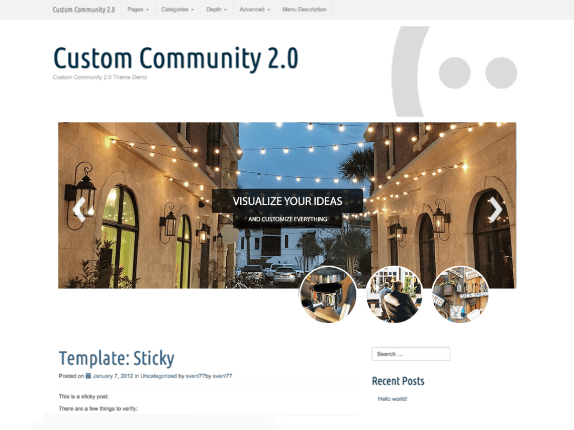 WordPress theme custom-community