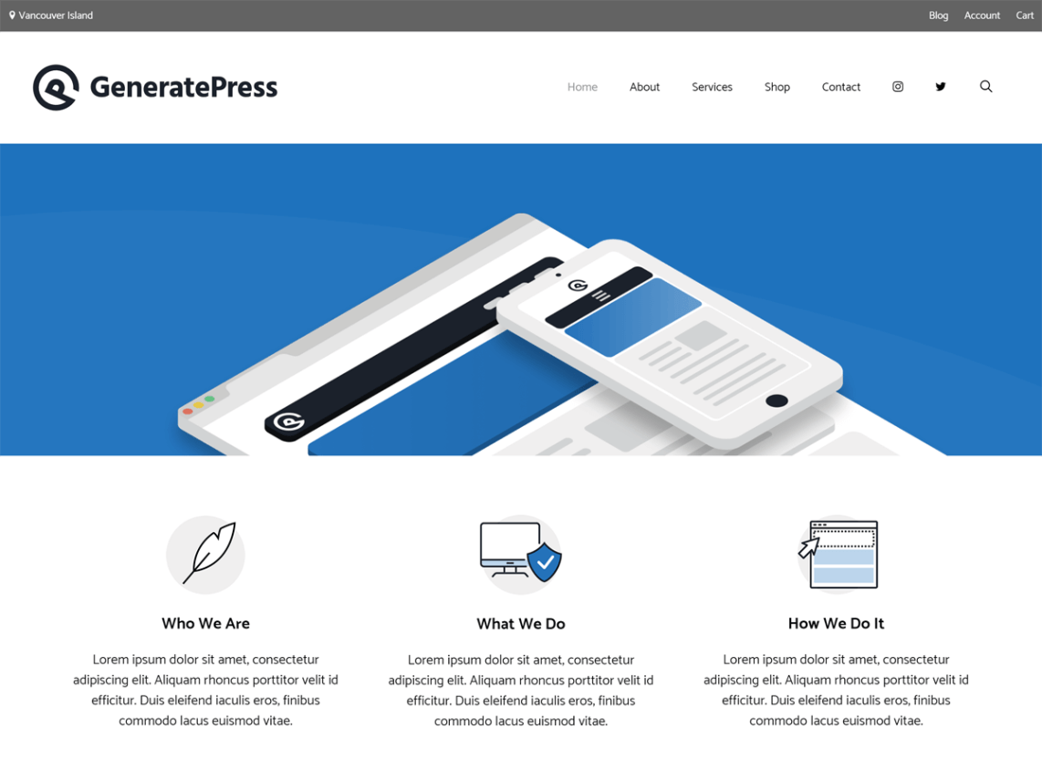 WordPress theme generatepress