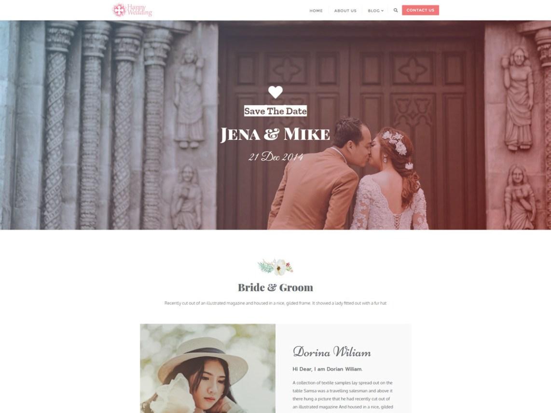 WordPress theme happy-wedding-day