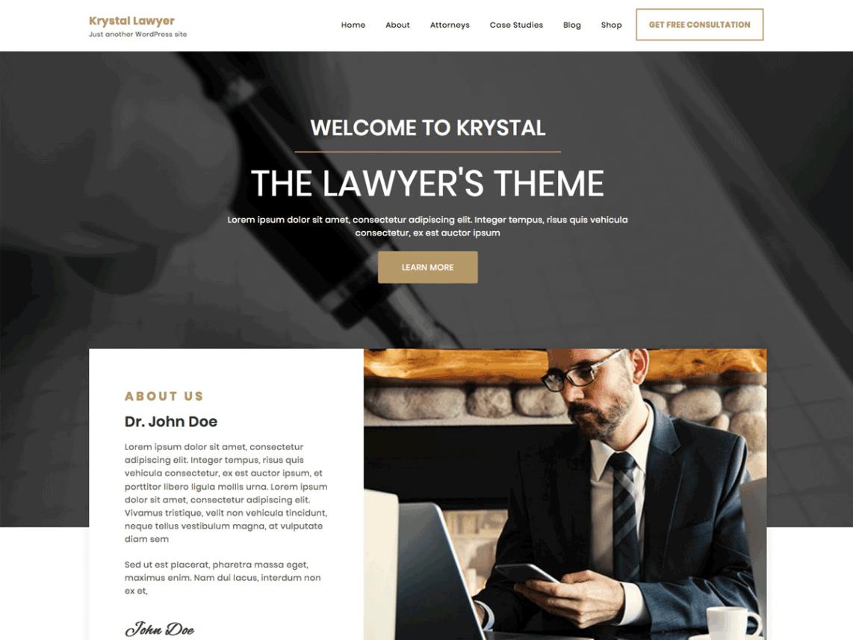 WordPress theme krystal-lawyer