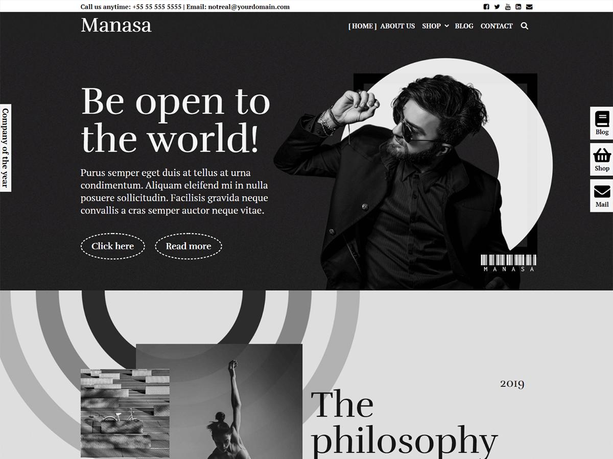 WordPress theme manasa