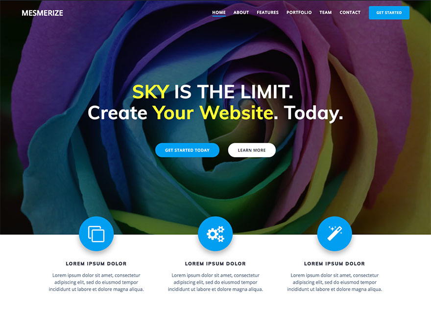 WordPress theme mesmerize