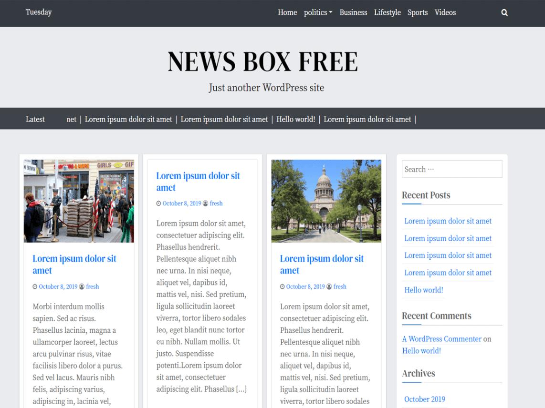 WordPress theme news-box-free