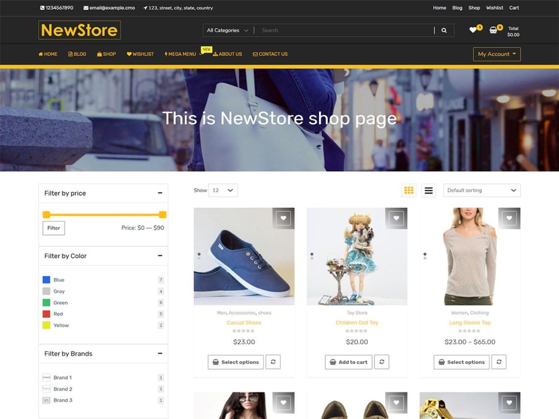 WordPress theme newshop-ecommerce