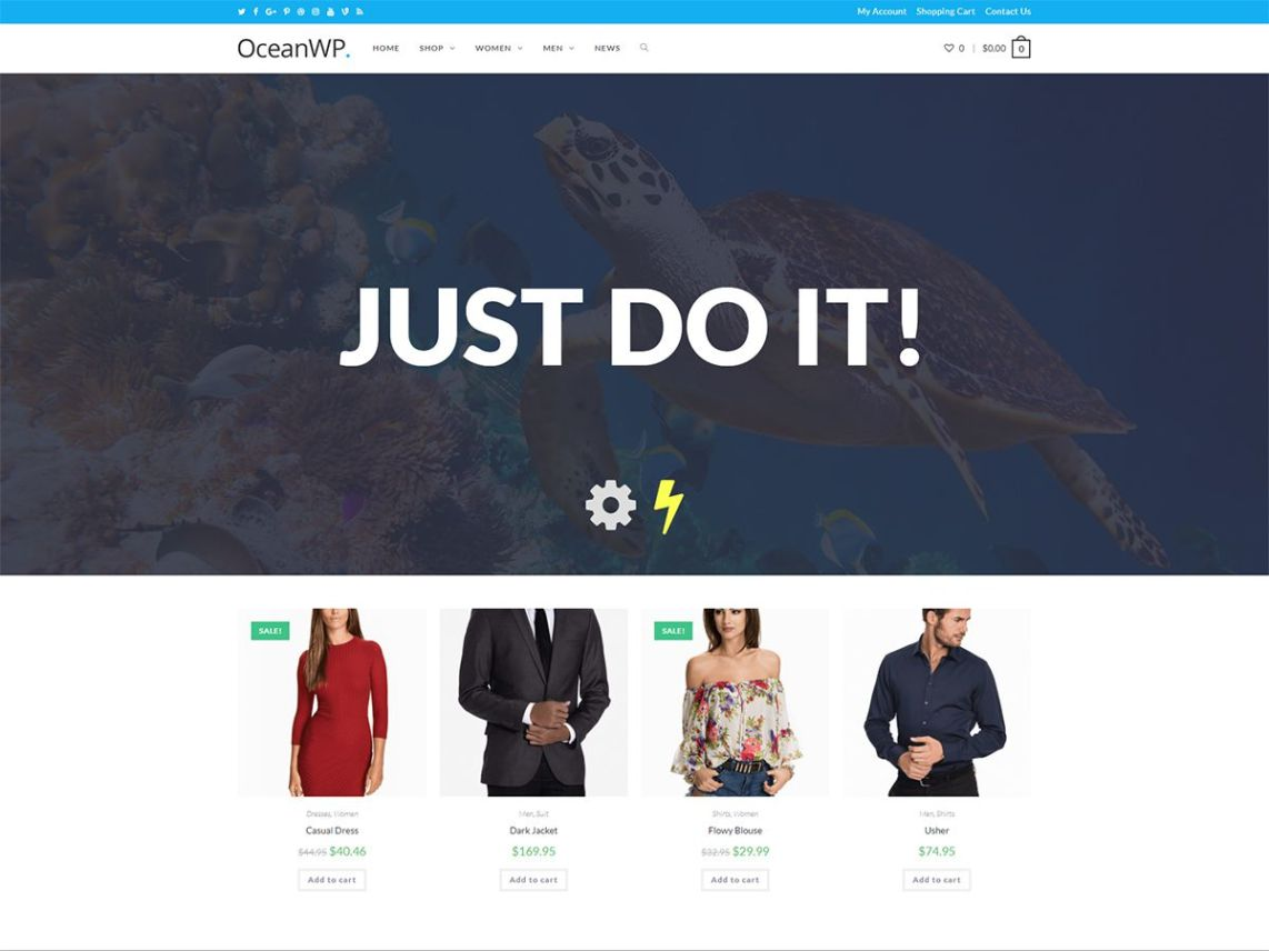 WordPress theme oceanwp