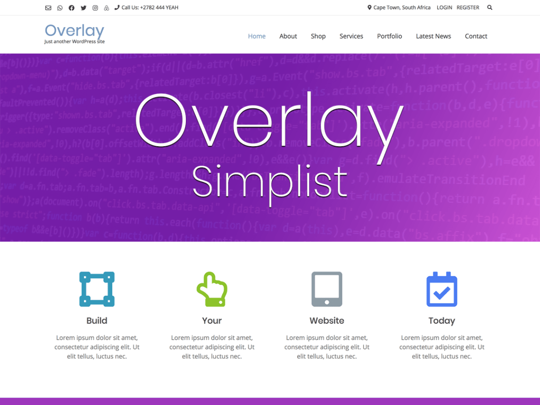 WordPress theme overlay-child-simplist