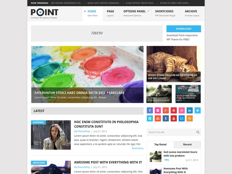 WordPress theme point