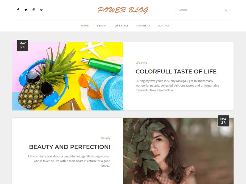 WordPress theme power-blog