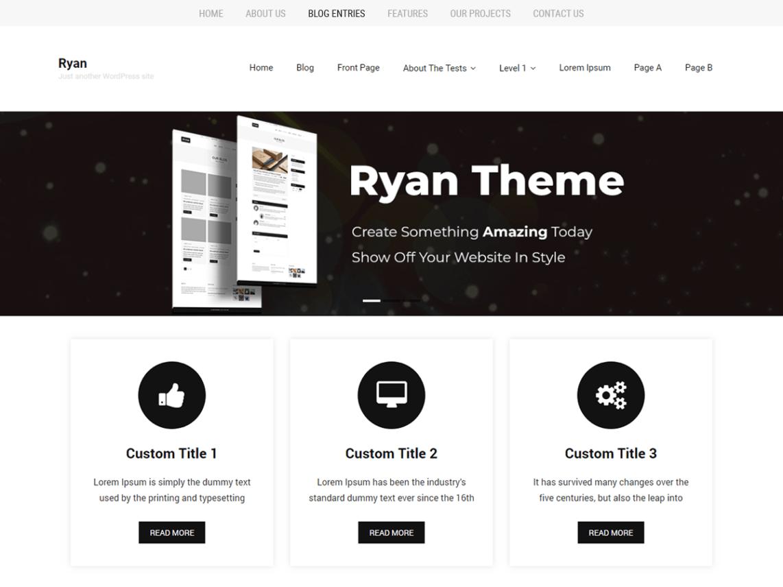 WordPress theme ryan-minimal
