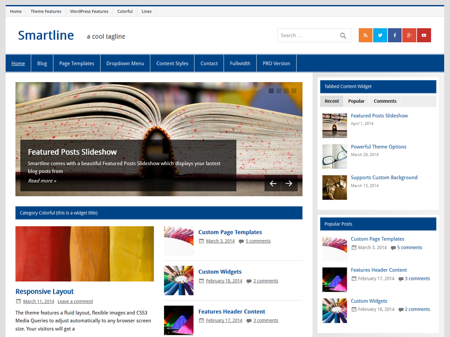 WordPress Theme Smartline Lite