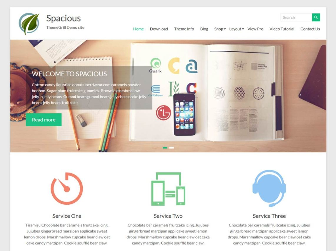 WordPress theme spacious