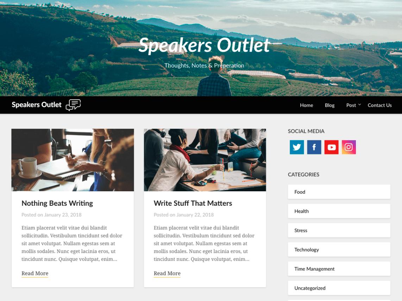 WordPress theme speakers-outlet