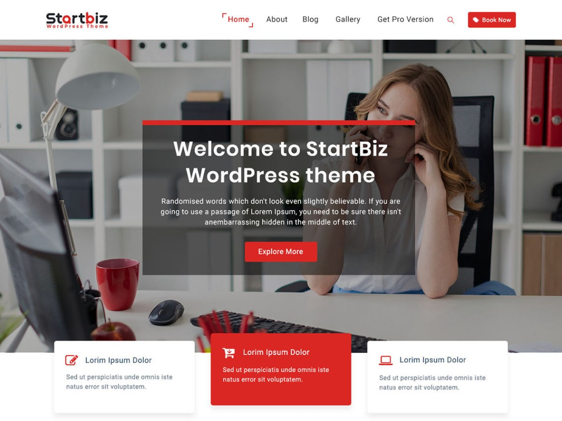 WordPress Theme StartBiz