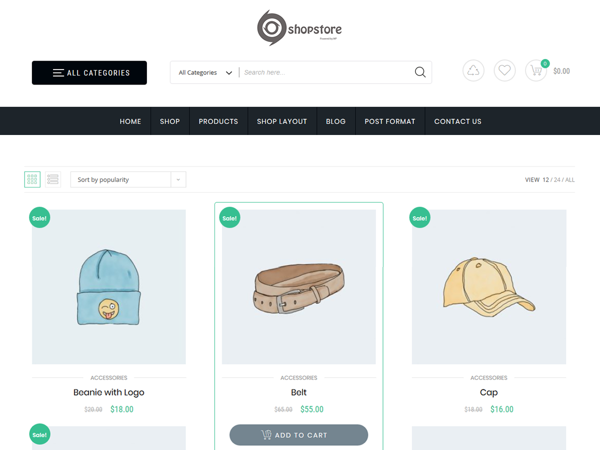 WordPress theme store-commerce