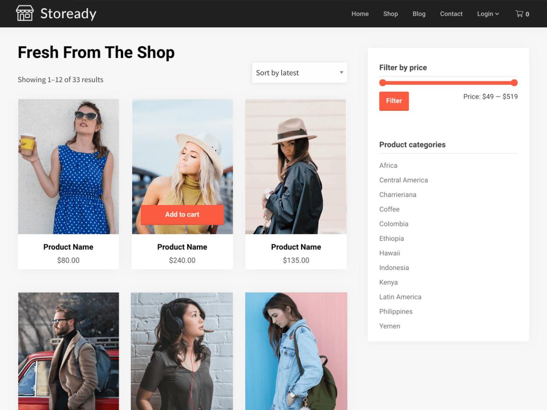 WordPress theme stoready
