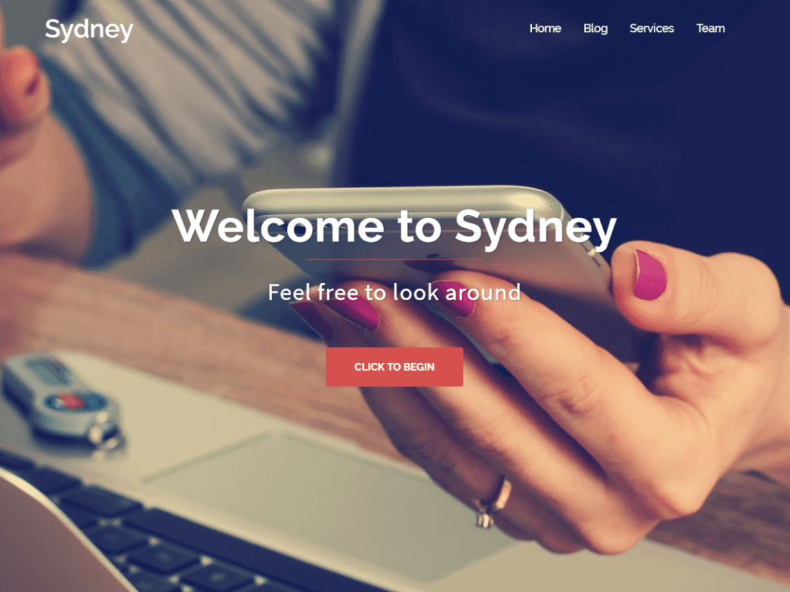 WordPress theme sydney
