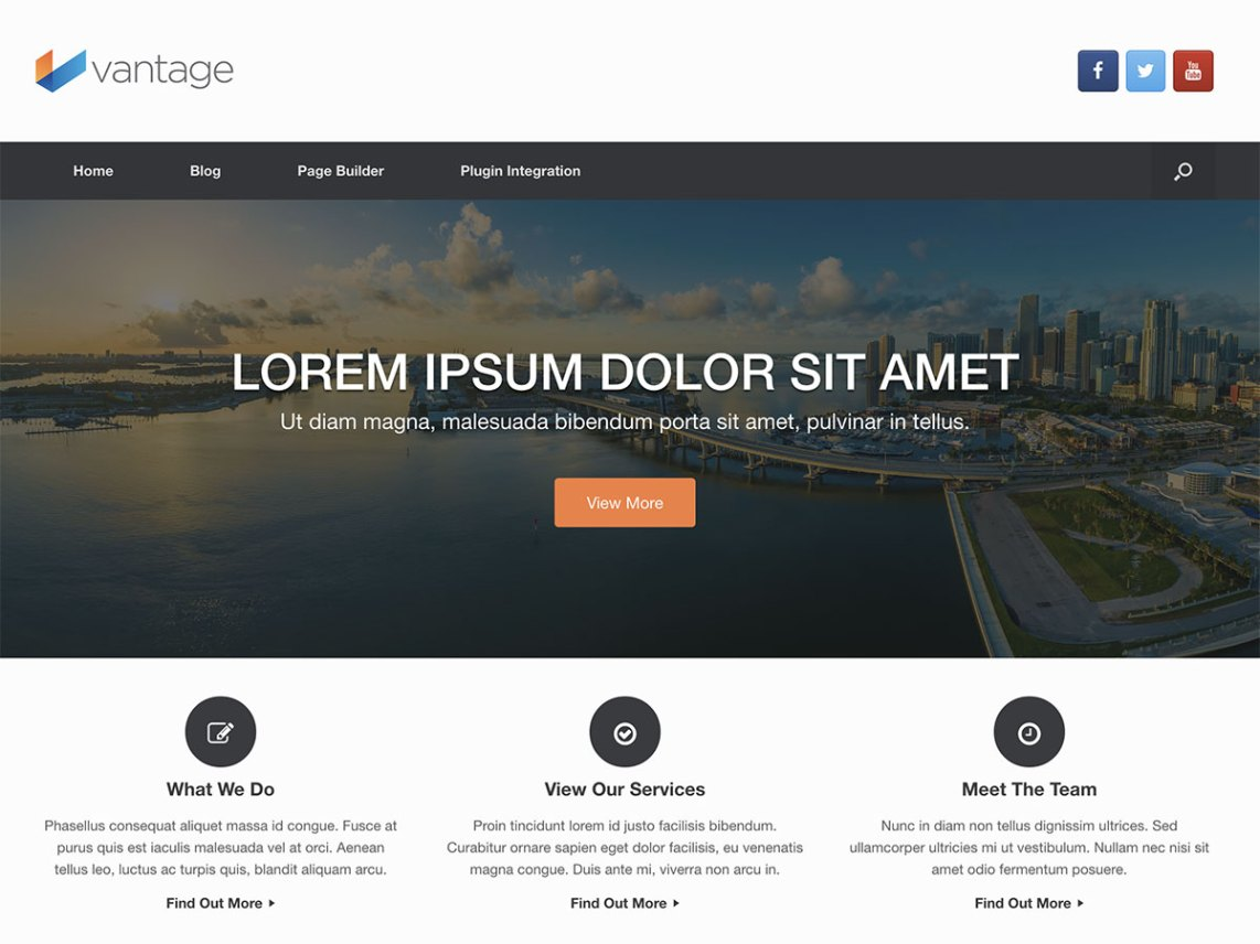WordPress theme vantage