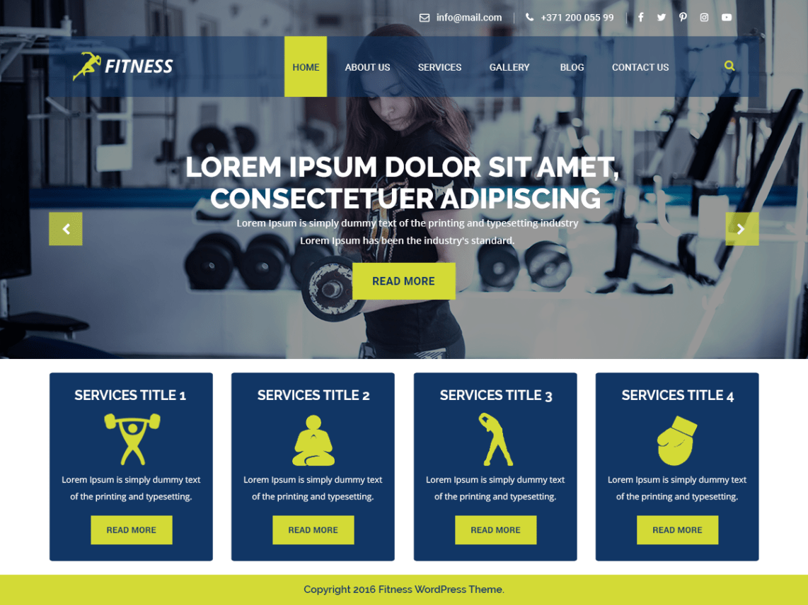 WordPress Theme VW Fitness