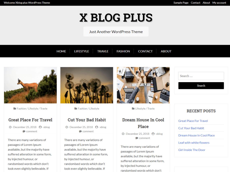 WordPress theme x-blog-plus