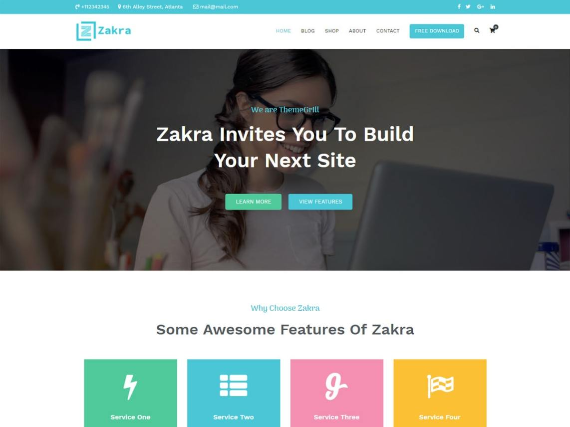 WordPress theme zakra