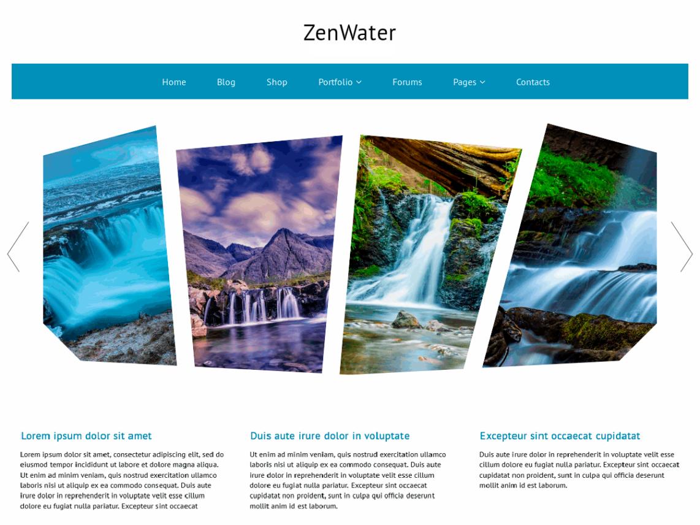 WordPress theme zenwater
