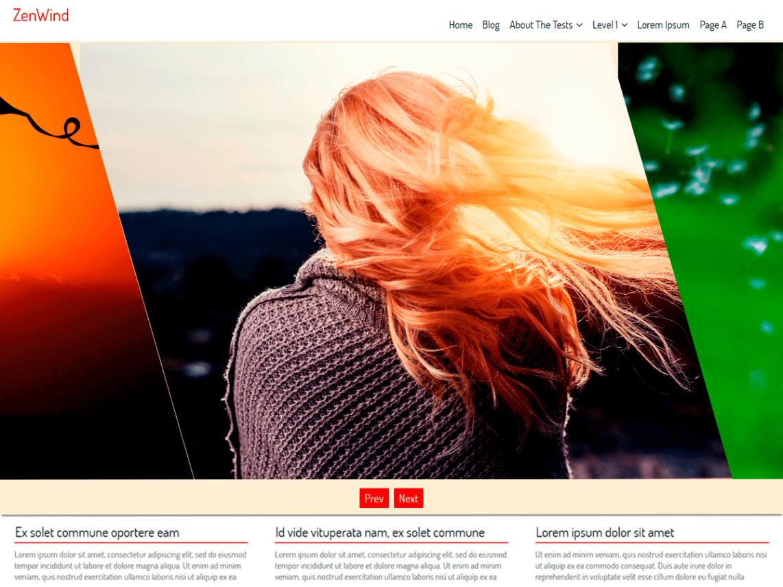 WordPress theme zenwind
